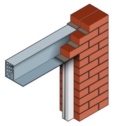 Stressline external solid wall steel lintel