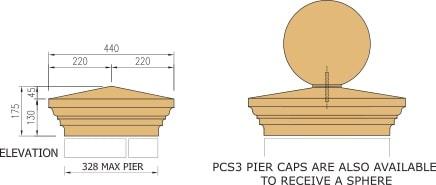 Cast stone pier cap diagram