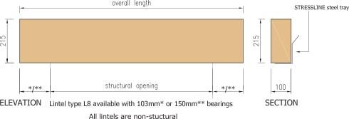cast stone rectangular lintel