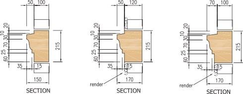 Cast stone string course diagram