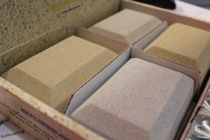 Cast stone samples