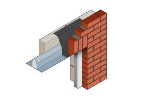 short outer leaf steel lintel 3d image