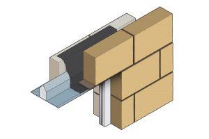 Stressline wide outer leaf steel lintel 3d image