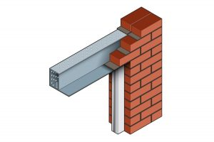 SL200 BOX External Solid Wall Steel Lintel 3D Image