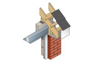 Stressline closed eave steel lintel 3D image