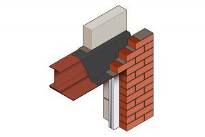 Rolled Steel Lintel 3D Image