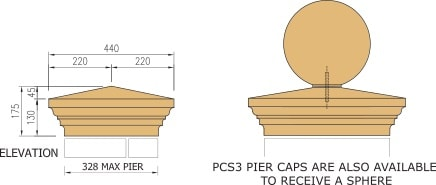 Cast stone pier cap diagram