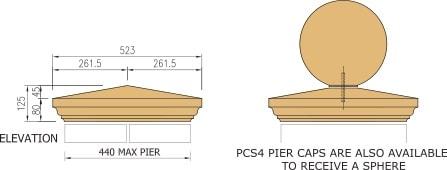 Pier cap cast stone