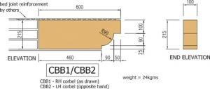 Cast stone corbel type b