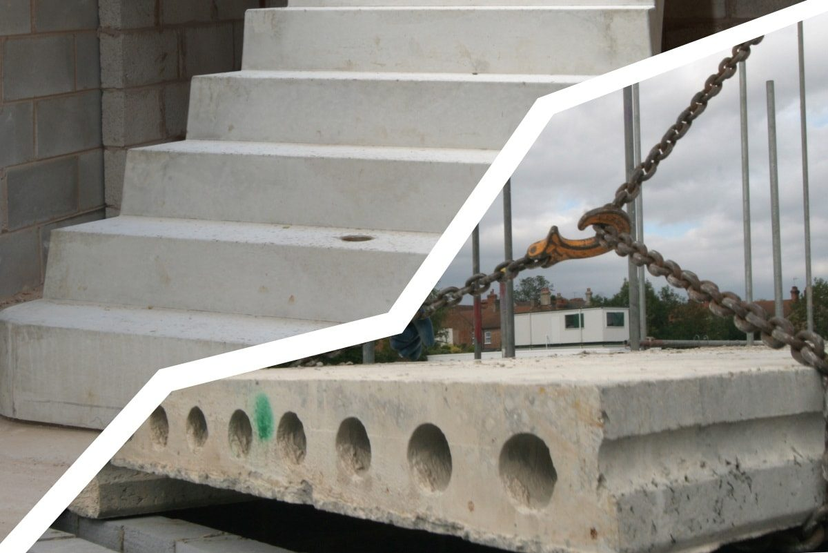 stair flights and hollowcore flooring