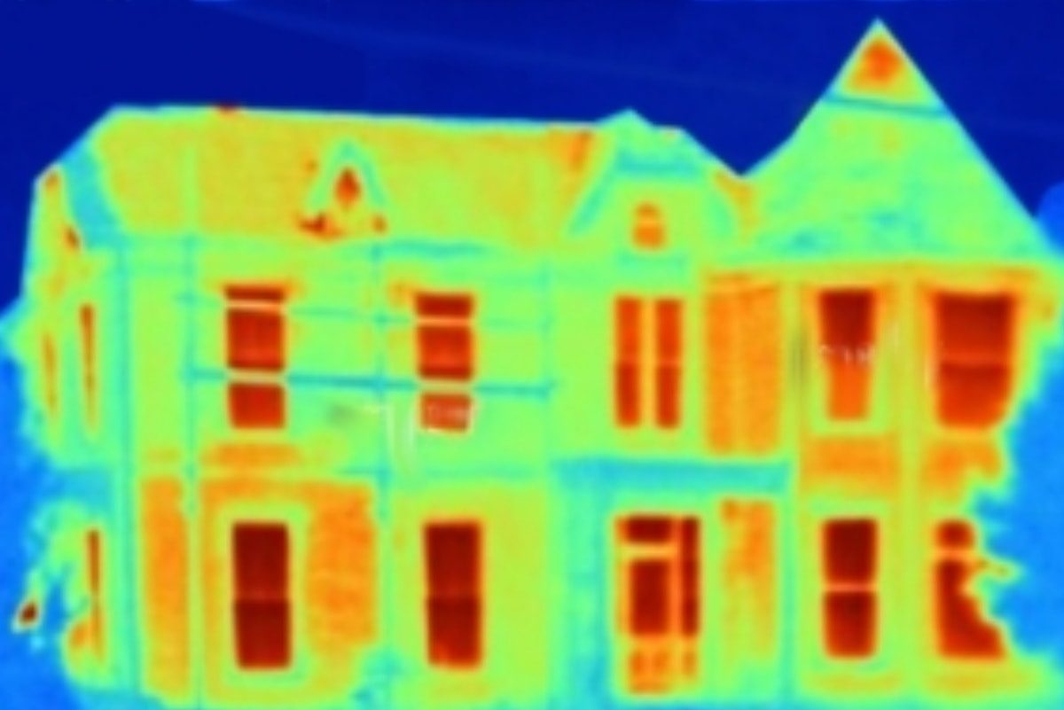 Thermal image of a house