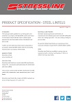 Product Specification Steel Lintels